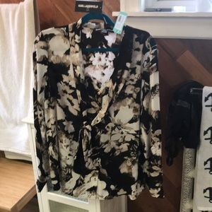 Women's XL Karl Lagerfeld blouse, new with tags.
